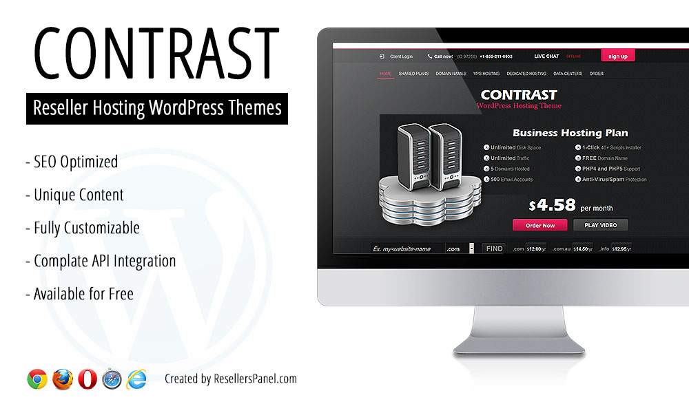 Contrast Hosting Theme || Click for Live Demo