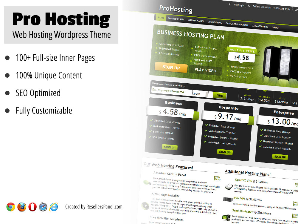 Pro Hosting WordPress theme || Click for Live Demo
