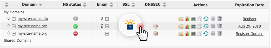 Let's Encrypt SSL enabled Hepsia Control Panel