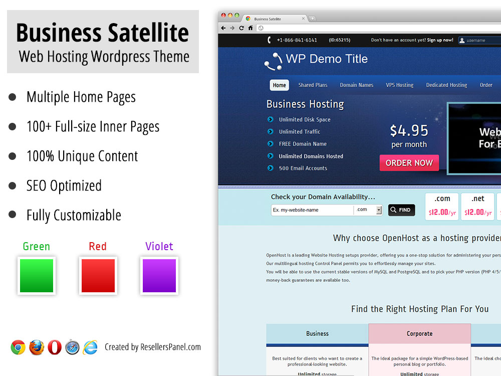 Business Satellite Web Hosting WordPress Theme || Click for Live Demo