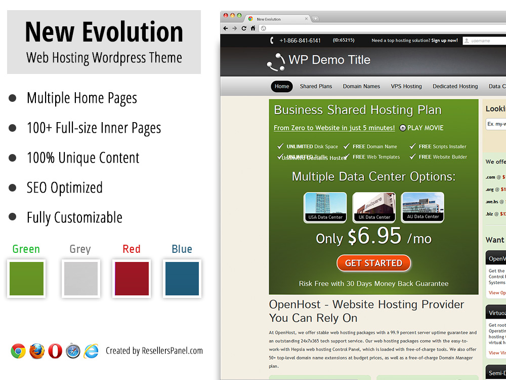 New Evolution Web Hosting Theme || Click for Live Demo