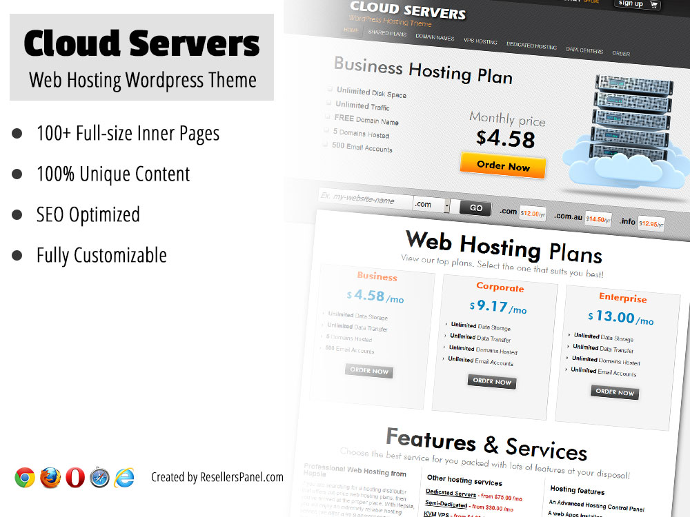 Cloud Servers WordPress Theme || Click for Live Demo