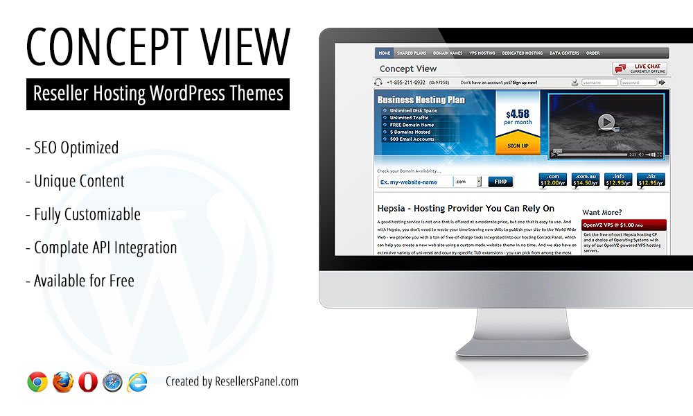 Concept View Hosting Theme || Click for Live Demo