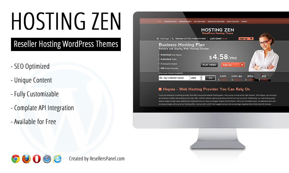 Hosting Zen WordPress Theme || Click for Live Demo