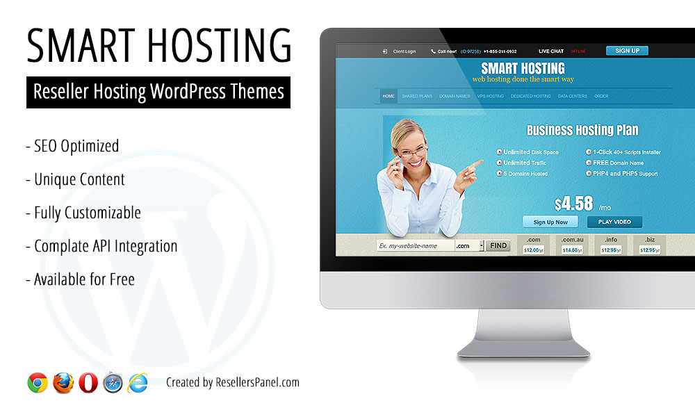 Smart Hosting WordPress theme || Click for Live Demo